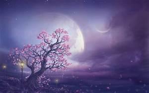 Pink Moon Fantasy Art Wallpapers - 1280x800 - 127697