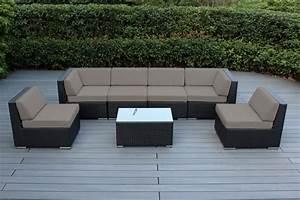 ohana collection 7pc sunbrella outdoor sectional sofa set With outdoor sectional sofa sunbrella