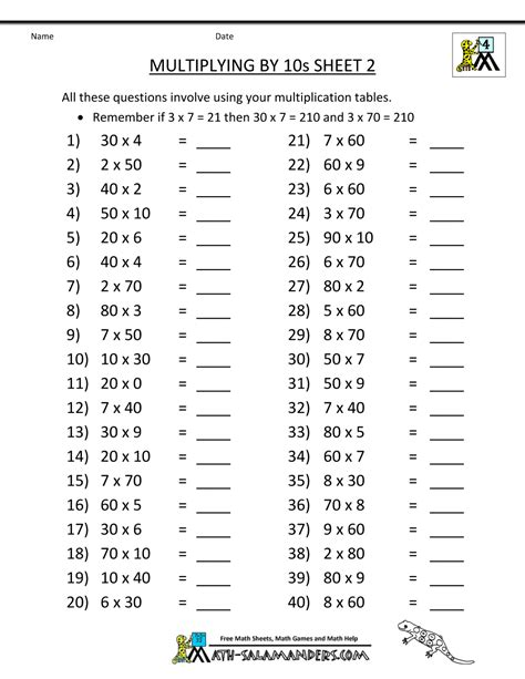 math sheets grade  multiplying    math worksheets