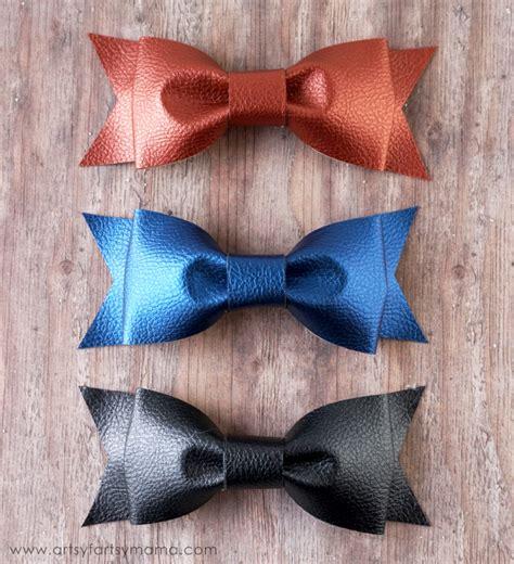 cricut bow diy leather bows artsy fartsy