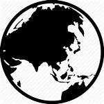 Asia Icon Map Globe Earth Global Planet