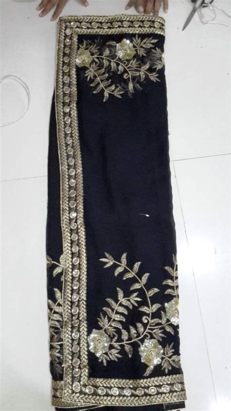 black and gold blouse buy black and gold embroidered saree with blouse