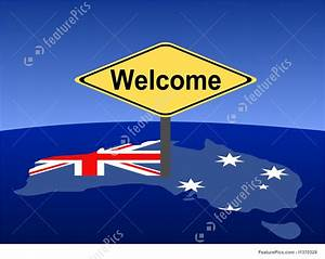 Illustration Of Welcome To Australia