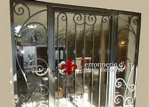 Porte et grille en fer forgé à Salon de Provence Ferronnier Var 83 Ferronnerie d'Art la Reinette
