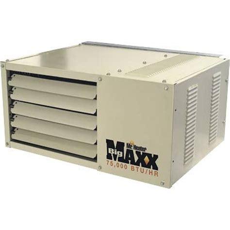 garage heater gas mr heater big maxx 75 000 btu gas garage unit
