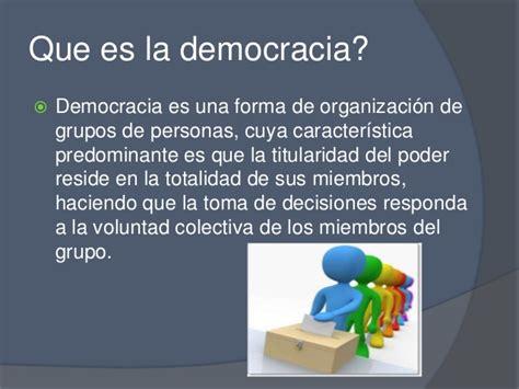 Integradas por millones de ciudadanos la opción hasta ahora conocida es la democracia indirecta, la democracia liberal que ha permitido resolver un añejo problema: 3.7 democracia, paz, equidad y ciudadania