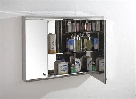 120cm Wide Triple Door Biscay Mirror Bathroom Wall Cabinet