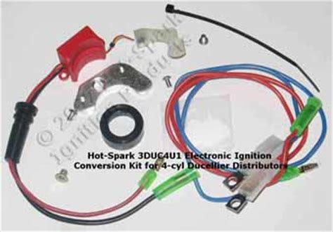 spark electronic ignition conversion kit replaces points all underneath the distributor cap