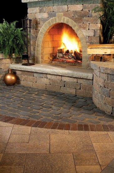 unilock fireplace cost 1000 ideas about unilock pavers on pavers
