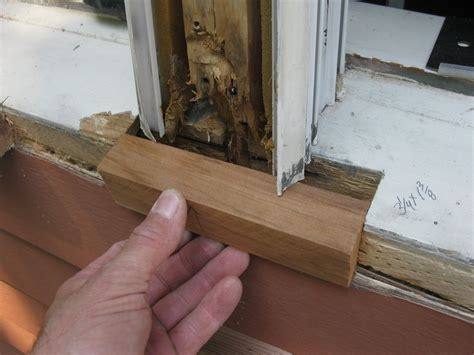 Repairing A Window Sill
