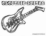 Guitar Coloring Boys Sheets Pages Electric Rock Hard Clipart Outline Colouring Drawing Instrument Guitars Line Printable Musical Clipartpanda Yescoloring Panda sketch template