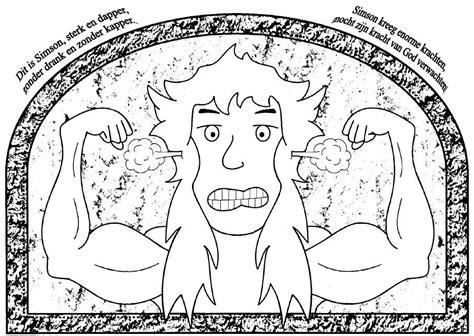 Kleurplaat Simson En De Leeuw by Geloven Is Leuk Kleurplaten Categorie Bijbelse