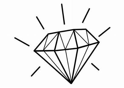 Diamond Coloring Printable Diamonds Pages Drawing Line