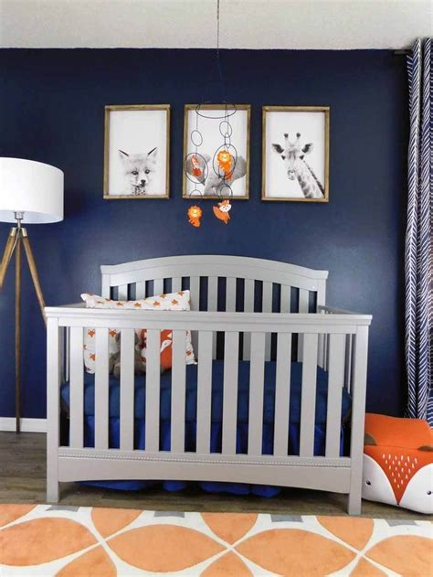 So nursery décor ideas are of great importance. Navy, Gray and Orange Baby Room Reveal in 2020 | Baby decor, Baby nursery diy, Simple nursery decor