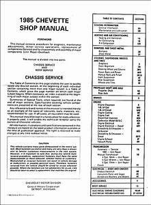 1985 Chevy Chevette Shop Manual Chevrolet 85 Original