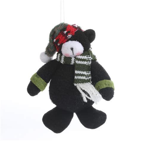 plush teddy bear christmas ornament christmas ornaments
