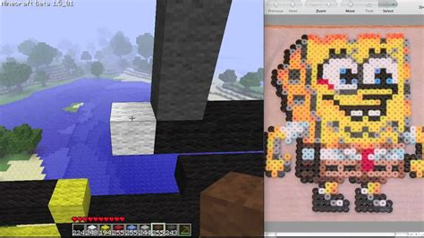 Minecraft Pixel Art Time-lapse
