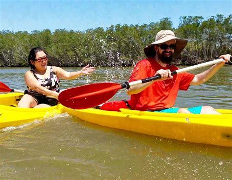 kayak rental titusville splashing couple florida location adventure bkadventure