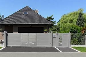Portail Alu Coulissant 4m : m rignies portail aluminium sur mesure europortail ~ Dailycaller-alerts.com Idées de Décoration