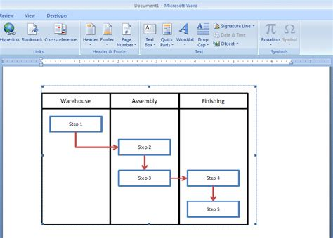 Excel Flowchart Template How To Embed An Excel Flowchart In Microsoft Word Breezetree