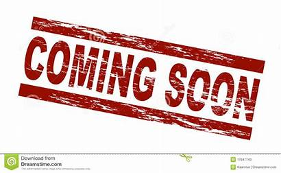 Soon Coming Background Royalty Tour Sign Stamp