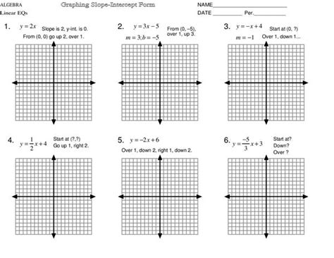 graphing lines in slope intercept form worksheet all worksheets 187 graphing linear equations worksheets