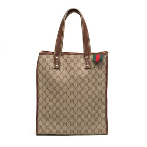 supreme shopping gucci gg supreme shopping beige coated canvas tote tradesy