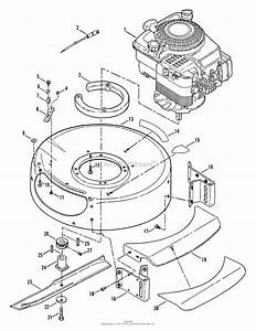 Snapper Rp20500 20 U0026quot  5 Hp Single Speed Mower Series 0 Parts Diagram For Engine  Cutting Deck
