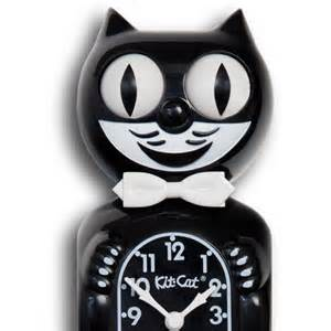 cat clock classic black kit cat canadian clock company