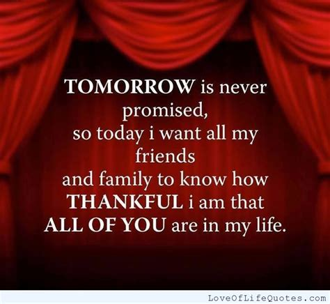 Never Promised Tomorrow Quotes