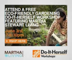 free home depot workshop eco friendly gardening