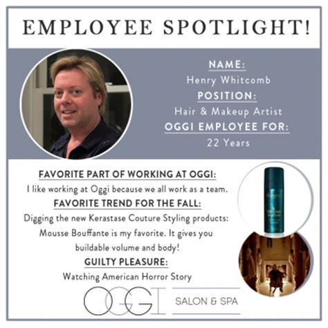 employee spotlight template employee spotlight henry oggi salon spa