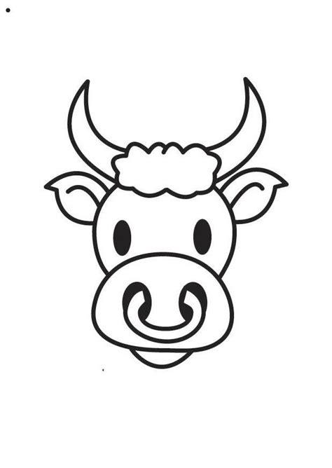 disegno da colorare testa  toro cat