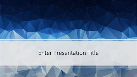 Ppt Template Free Low Poly Powerpoint Template Free Powerpoint Templates