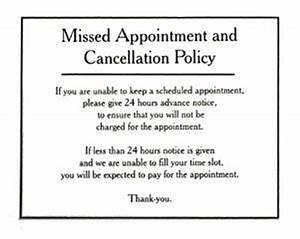 image gallery missed appointment With dental office cancellation policy letter