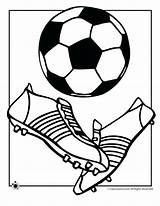 Football Coloring Ball Printable Soccer Getcolorings sketch template