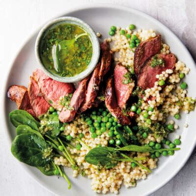 seared rump  pearl couscous woolworths taste