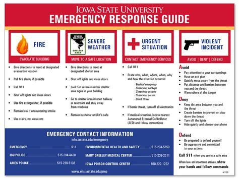 department unit emergency plan environmental health