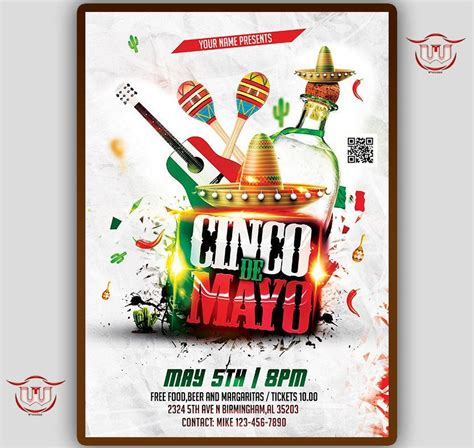Cinco De Mayo party flyer, 5 de mayo invitation, mexico ...
