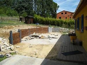 charmant jardin en pente forte 14 construction dun mur With maison en pente forte 14 la cuisine salle a manger