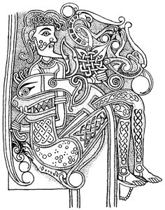 From the Book of Kells | Colouring Pages | Viking art, Celtic designs, Book of kells