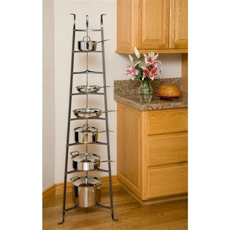 Standing Pot Rack by Enclume 8 Tier Cookware Stand Free Standing Pot Rack In