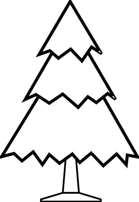 crismas tree black  white clipart clipground