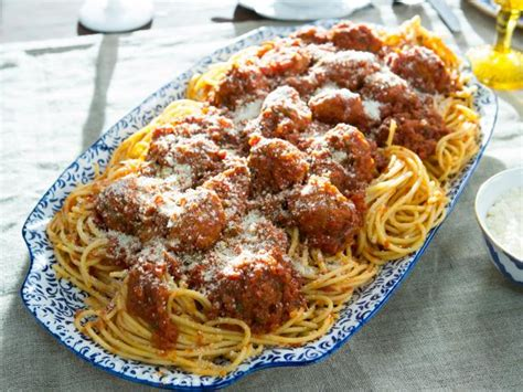 spaghetti  meatballs recipe food network