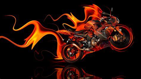 Kawasaki Side Super Fire Abstract Bike 2014
