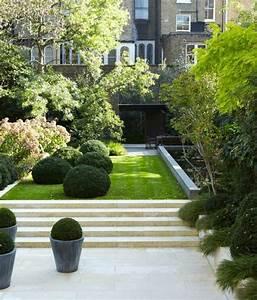 amenagement jardin paysager moderne avec coin de detente With photos amenagement jardin paysager