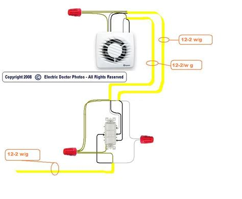 wiring a bathroom exhaust fan nutone bathroom fan wiring diagram efcaviation com
