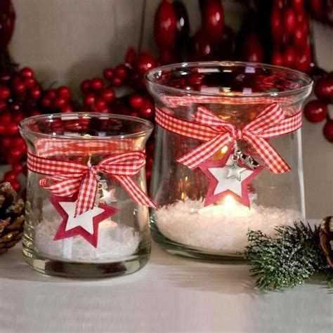 glas windlicht windlichter christmas weihnachten ideen und kiga laternen rot decorations winter advent diy lanku zdroj club