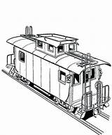 Train Coloring Freight Railroad Pages Caboose Bnsf Printable Template Getcolorings Templates Sketch sketch template