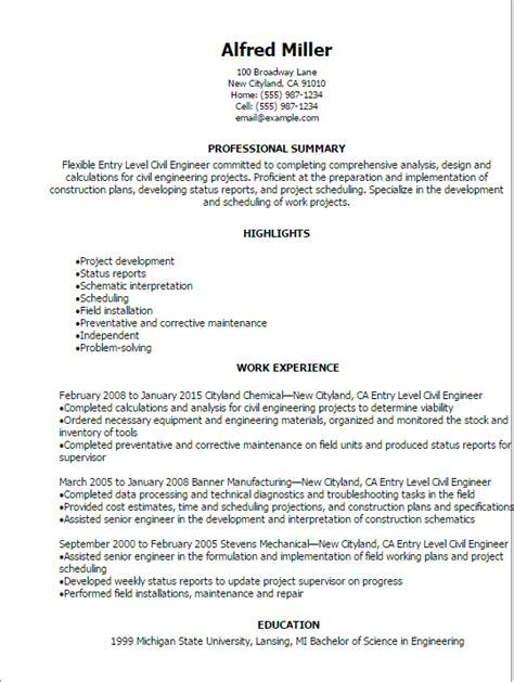 Engineering Resume Professional Summary by Civil Engineer Resumes Resume Sle